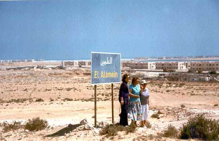 Alamein à 100 km à l'ouest d'Alexandrie....