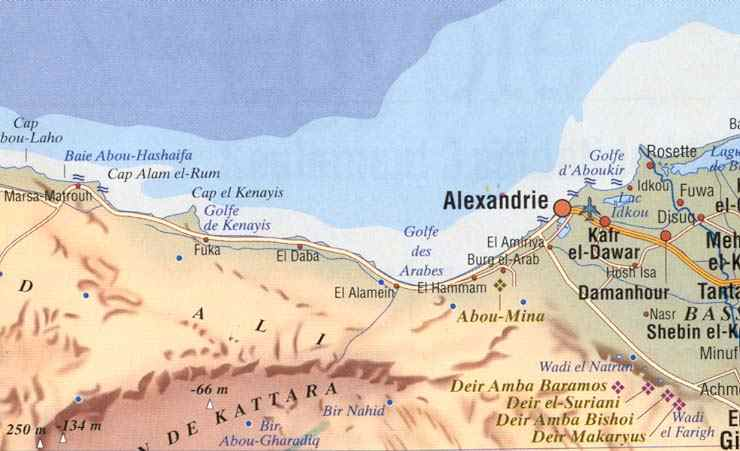 la carte d' El Alamein