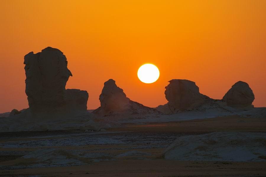 Coucher de soleil du desert
