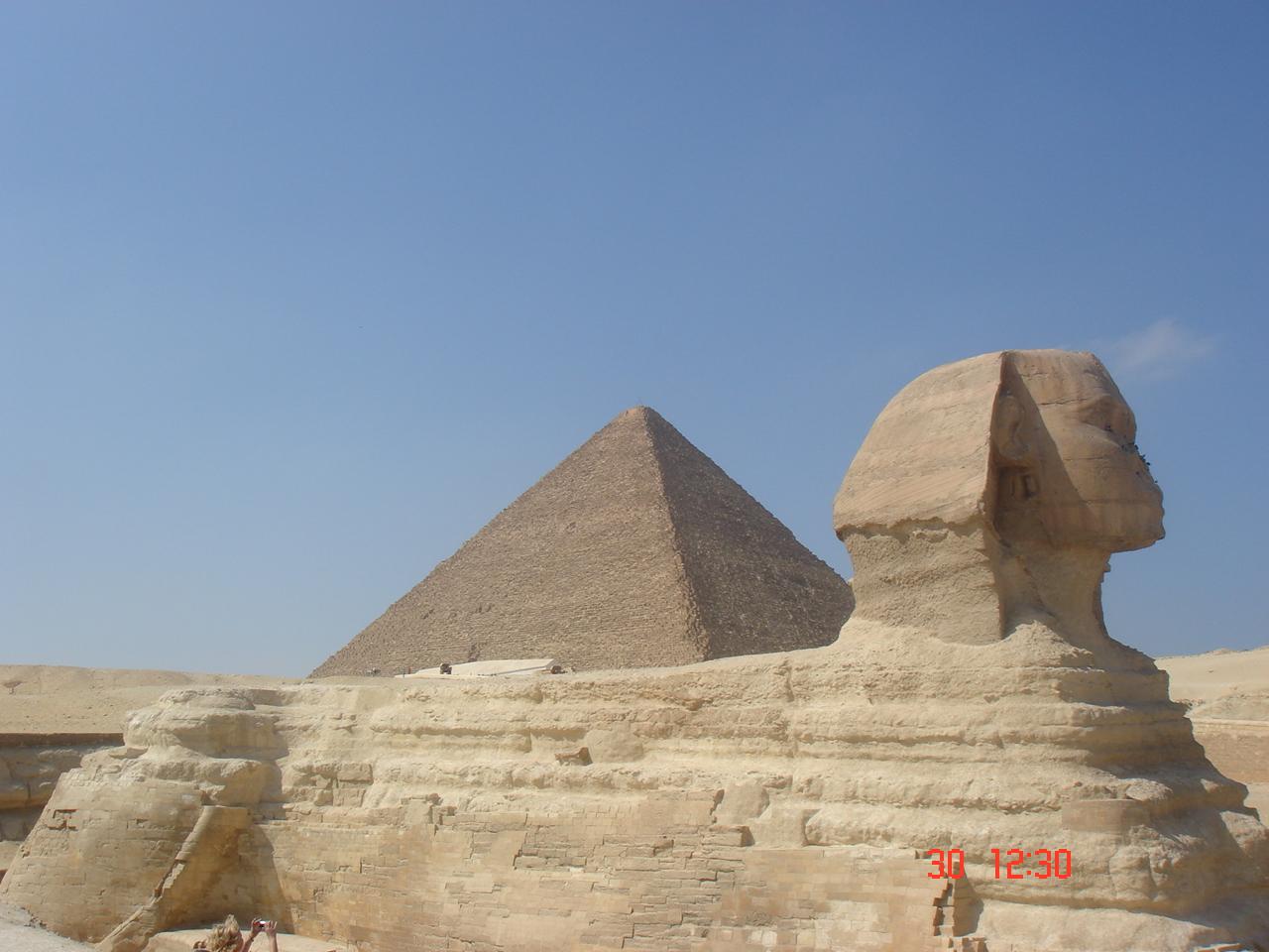 le fameux sphinx de Gizeh