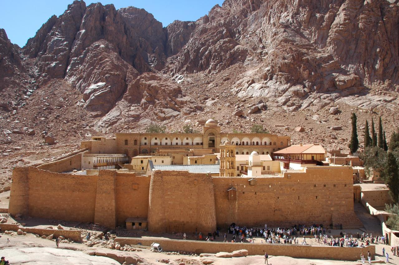 Le monastère de Ste Catherine au Sinaï