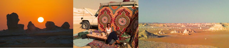 Bivouac et randonnée dans le désert blanc d'Egypte