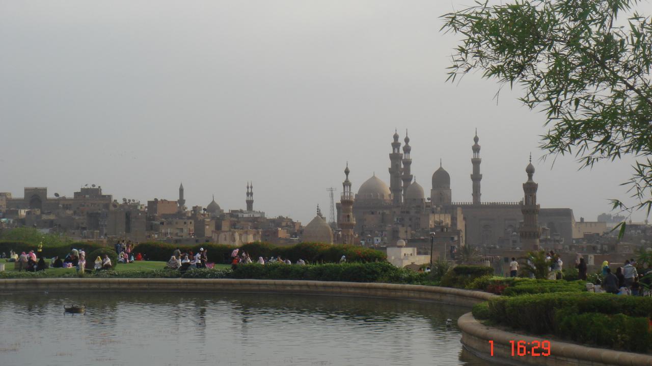 Le Parc d' Al Azhar et vue sur le Caire islamique