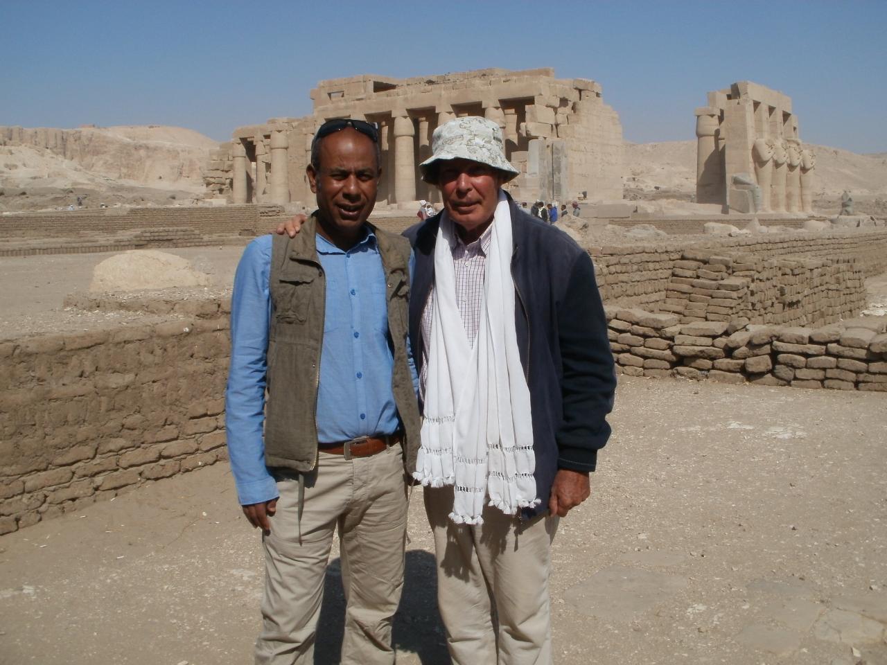 Hussein vu sur le Ramssieum