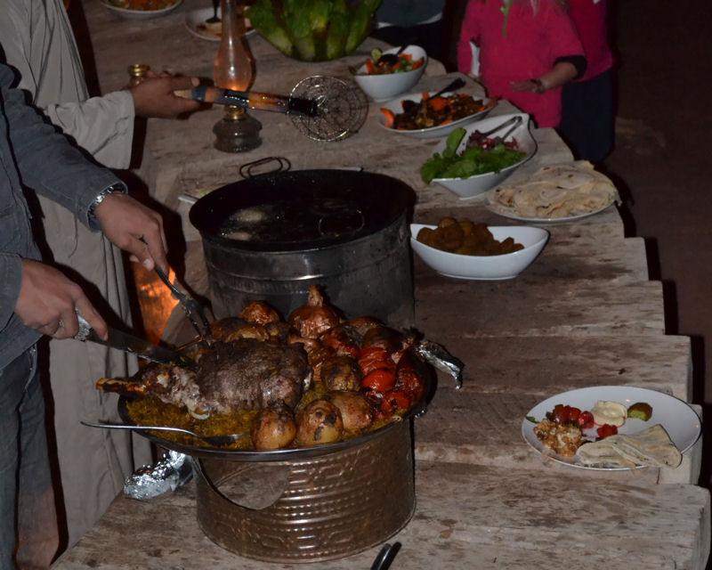 Repas chez les bedouins