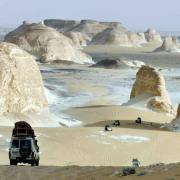 Desert blanc en egypte