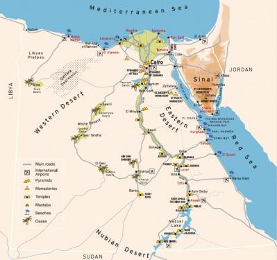 carte d'Egypte